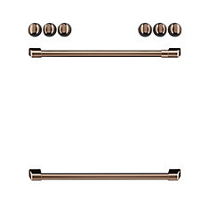 44-inch Front Control Electric Knobs and Handles in Brushed Copper (8 Pieces)