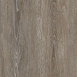Sample - Brushed Oak Taupe Luxury Vinyl Flooring, 5-inch x 6-inch