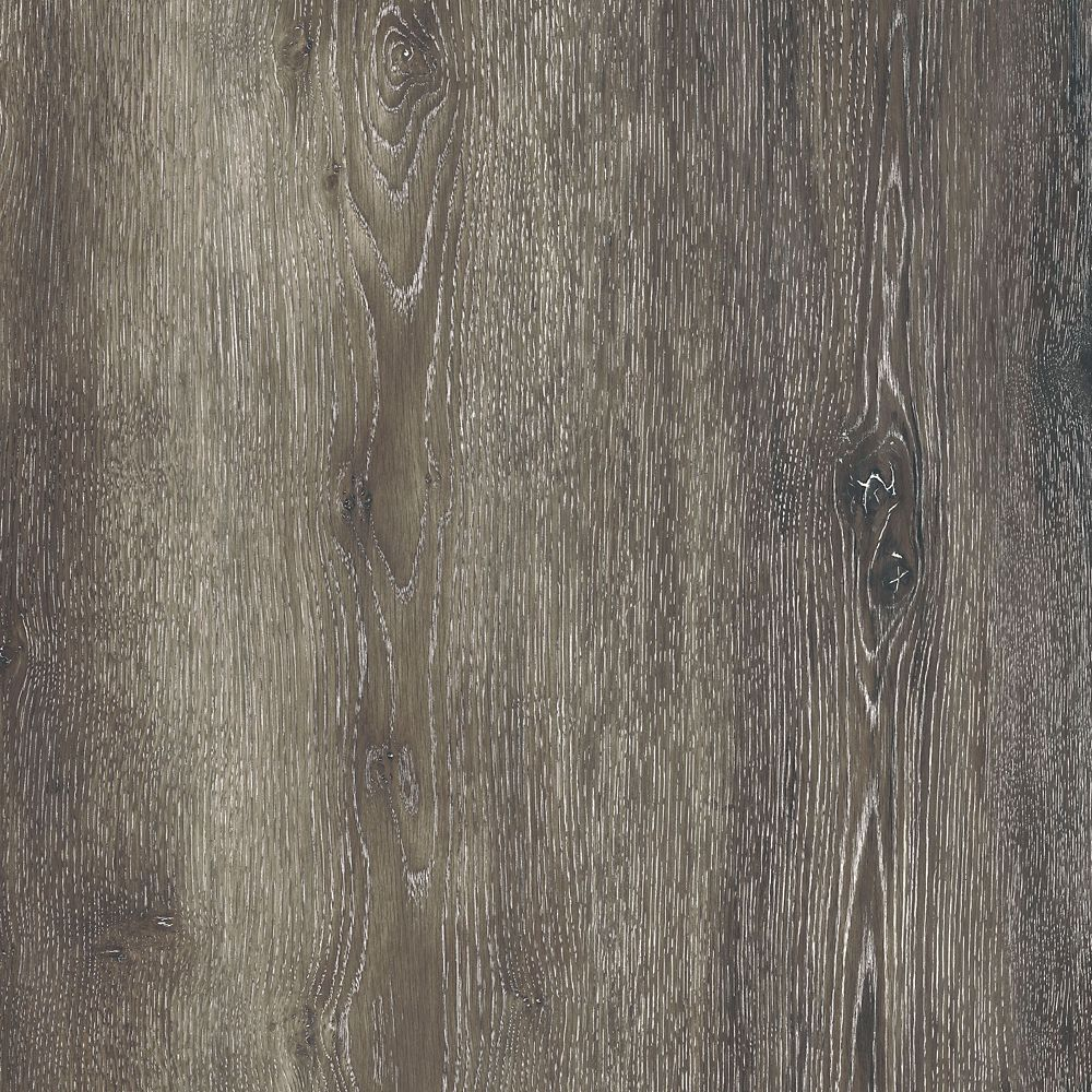 Sample - Dark Grey Oak Luxury Vinyl Flooring, 5-inch x 6-inch