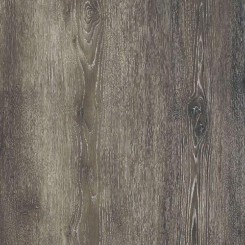 Lifeproof Sample - Dark Grey Oak Luxury Vinyl Flooring, 5-inch x 6-inch