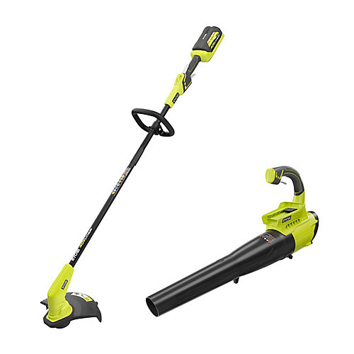 40V 13-Inch Cordless String Trimmer with Blower