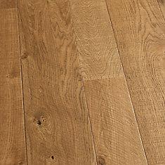 Plancher encliquet., bois d'ingén., 3/8po x 4 po et 6po x long. var., Chêne français Montara, 19,84pi2/boîte