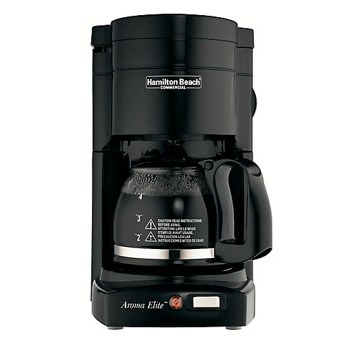 Hamilton beach® 4-cup coffee maker with glass carafe, black