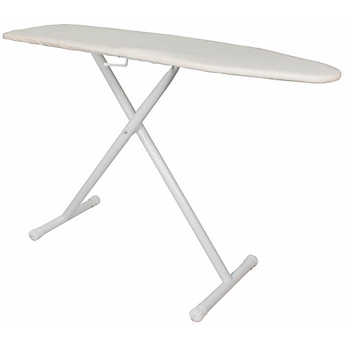 Basic Ironing Board Full-Size White With Khaki Pad And Cover (4-Case)
