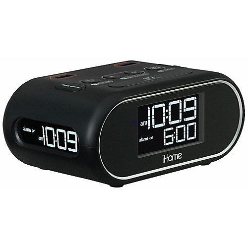 Hti industries ihome lcd triple display alarm clock with dual USB charging