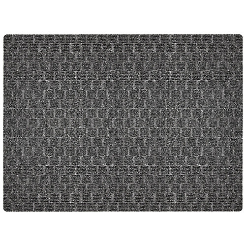 Multy Home Premiere Squares 3 ft. x 4 ft. Indoor Rectangular Needlepunch Door Mat