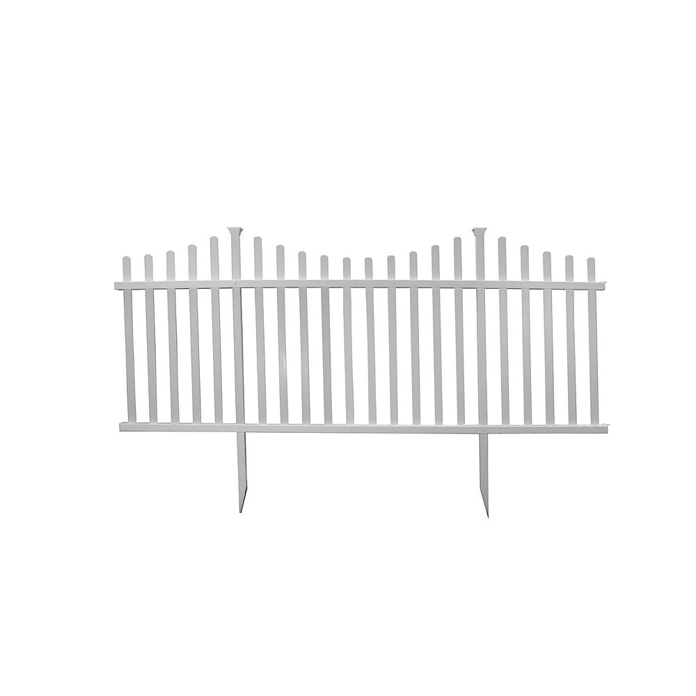 Zippity Outdoor Products Manchester Semi-Permanent Vinyl Fence Kit (42 inch H x 92 inch W)- 2 pack
