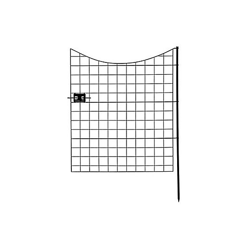 Semi-Permanent Black Metal Garden Fence Gate (41 inch Tall)