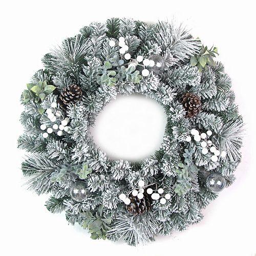 Home Accents 28 inch Flocked Wonderland Wreath
