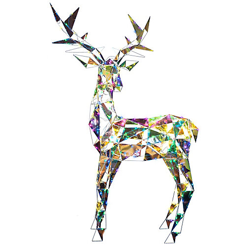 Colossal Iridescent Buck Outdoor Christmas Decoration