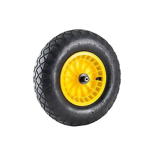 Gros pneu cranté Roue gonflable