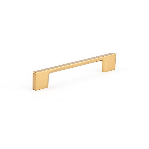 Richelieu Contemporary Metal Pull 5 1/32-inch (128 mm), Aurum Brushed Gold Finish, Armadale Collection