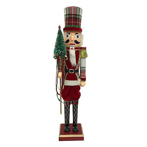 Home Accents Holiday Casse-noisette Rouge de 60,9 cm