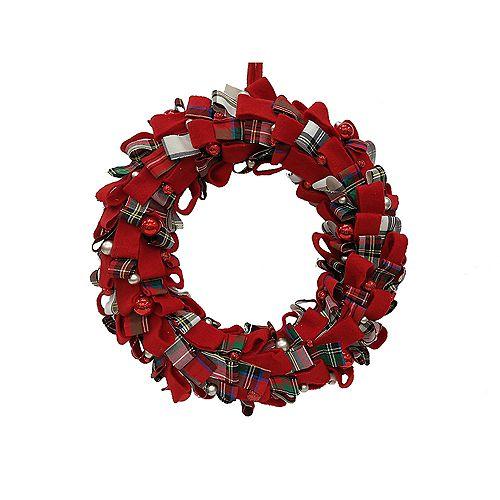 Home Accents 18 inch Plaid Wreath