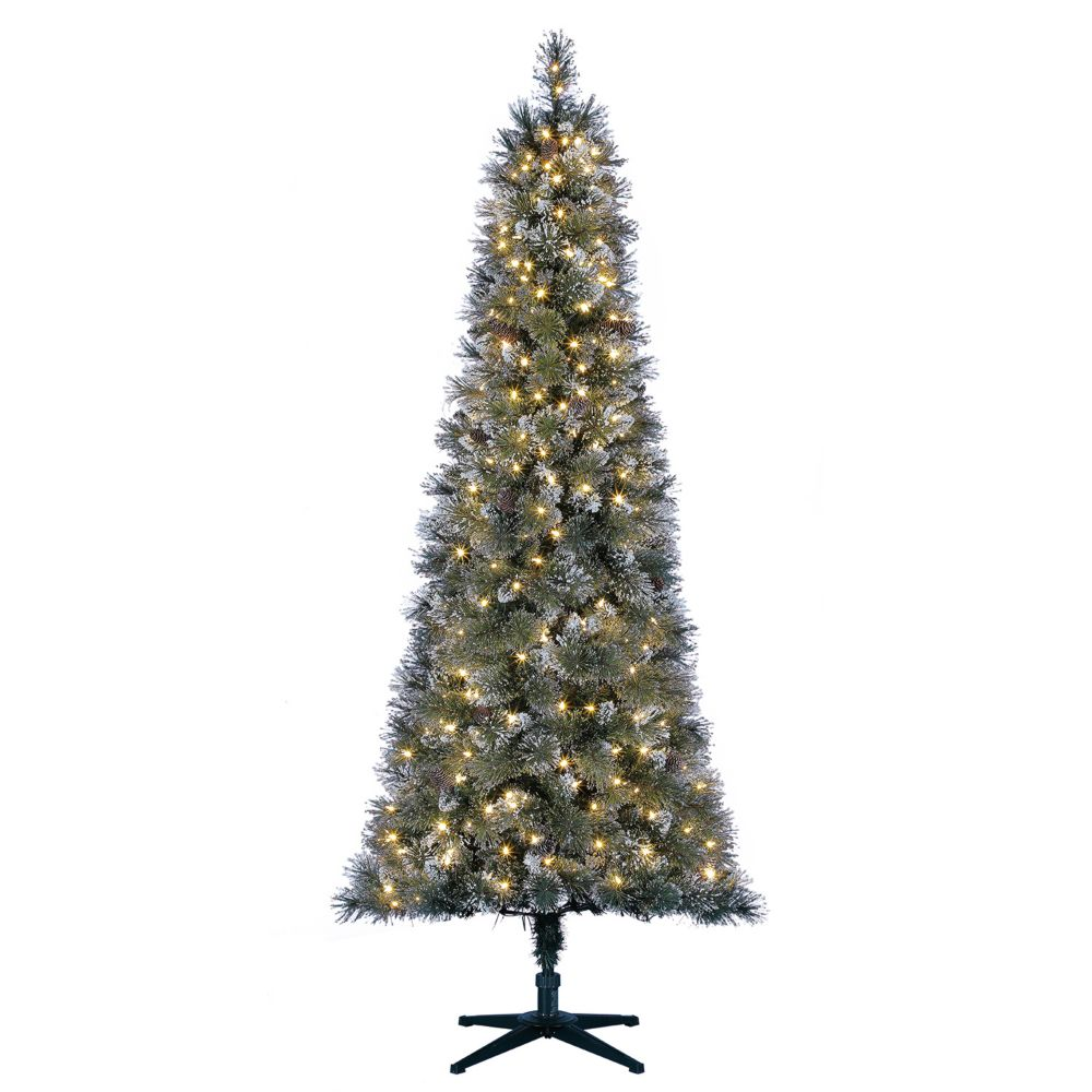 Frosted Slim Christmas Tree: Photo Of Product