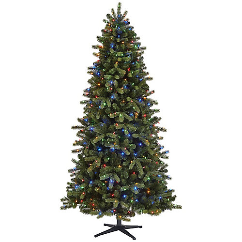 7.5 ft. Pre-Lit LED Overland Pine Quick Set Christmas Tree with 400 Colour Changing Surebright Lights