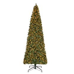 Home Accents Holiday 12 ft. 1100-Light Warm White LED Pre-Lit Quick Set Alexander Pine Cashmere Christmas Tree