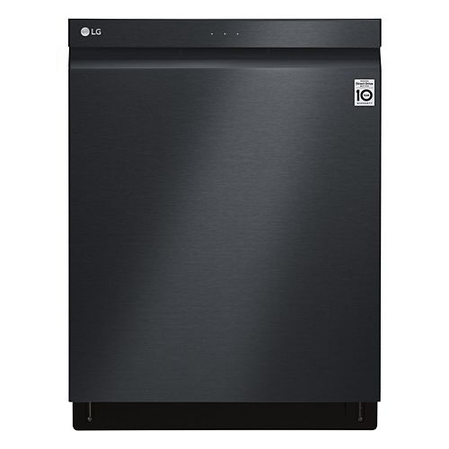 LG Electronics 24-inch Top Control Dishwasher in Matte Black with Stainless Steel Tub and 3rd Rack - ENERGY STAR®