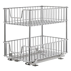 2-Tier Wire Drawer w/Slides - Chrome