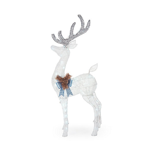 4 ft. LED-Lit Deer Outdoor Christmas Decoration