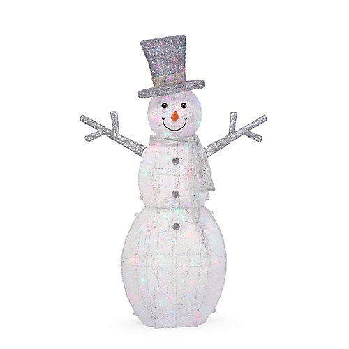 5 ft. LED-Lit Snowman Outdoor Christmas Decoration