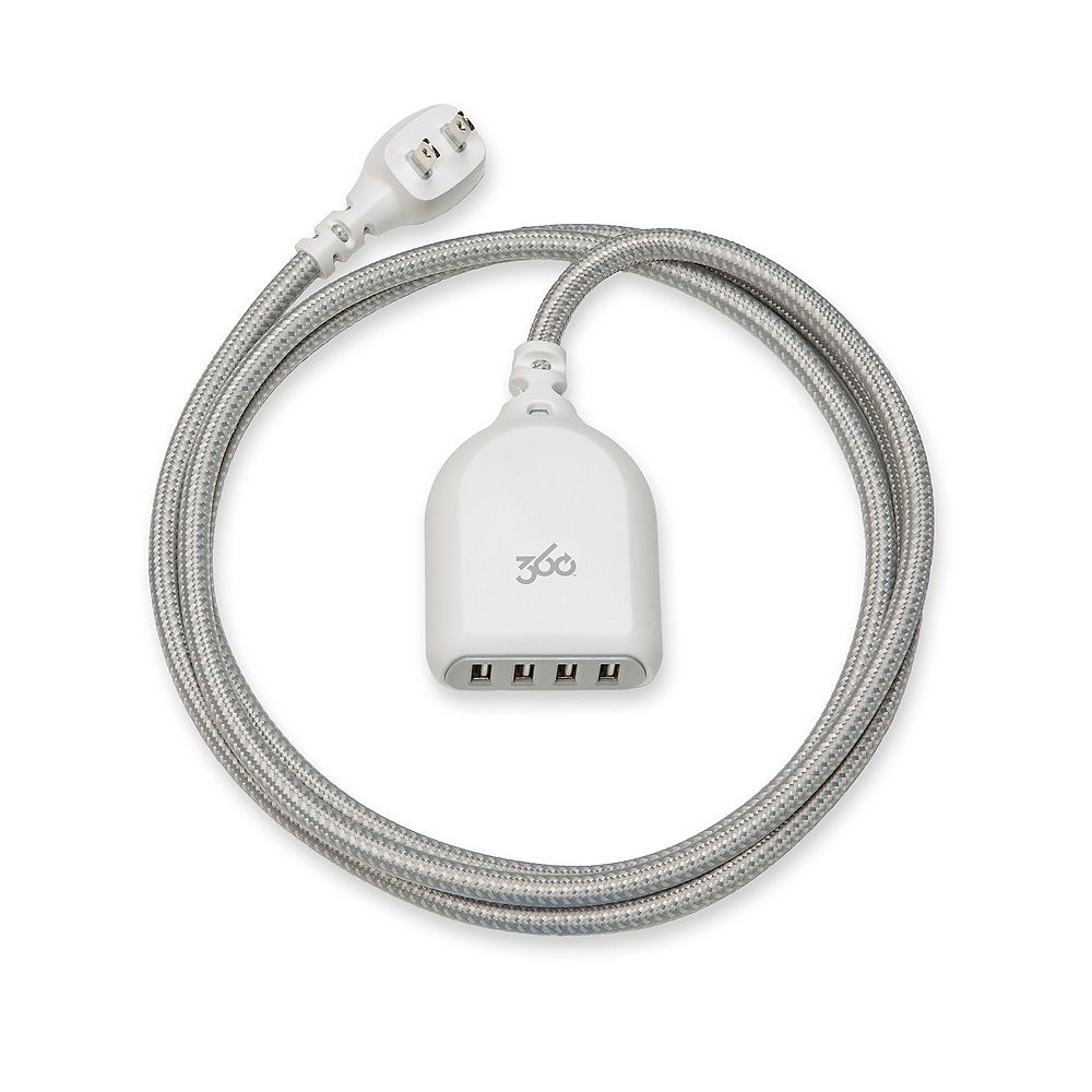 360 Electrical Habitat Premium USB Extension Cord (Tungsten)
