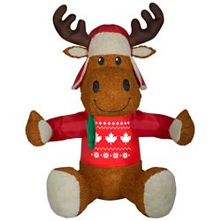 Home Accents Holiday Airblown Animated Hugging Moose Outdoor Christmas Decoration