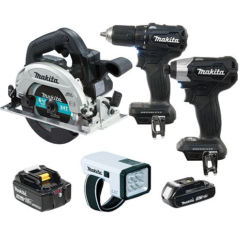 MAKITA 4 Tool Brushless Cordless Li-Ion Combo Kit