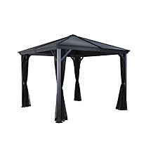Ventura 8 ft. x 8 ft. Sun Shelter in Dark Grey