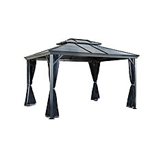 Ventura II 10 ft. x 12 ft. Sun Shelter in Dark Grey