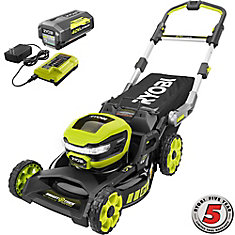 40V 21-Inch Brushless Cordless SMART TREK Self-Propelled Walk Behind Steel Deck Mower with 6.0Ah Battery