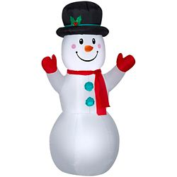 Home Accents Holiday Airblown Snowman-MD
