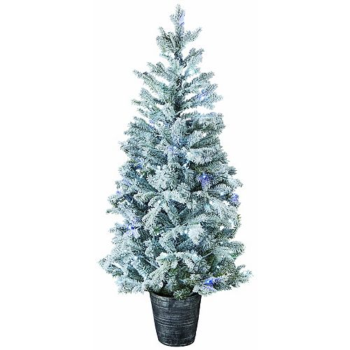 Home Accents Holiday 5ft. LED-Lit Twinkling Snow Artificial Christmas Tree
