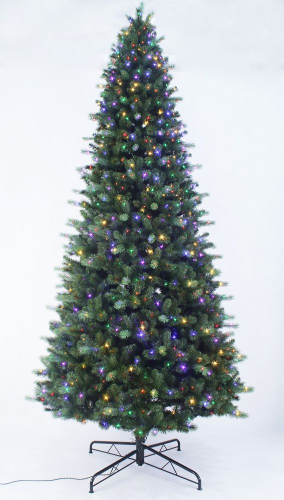 Home Accents Holiday 12 Ft 1200l Braxton Led Color Changing 8 Function Tree The Home Depot Canada
