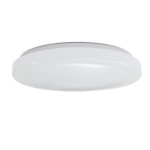 11 inch Round White LED intergrated Flush Mount Light Fixture 4-Way Selectable Color Temperatures