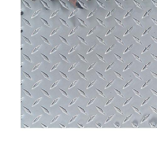M-D Building Products 1 ft. X 2 ft. Diamond Tread Aluminium Sheet  - .073