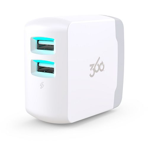 360 Electrical Vivid4.8 Premium Wall Charger (White)
