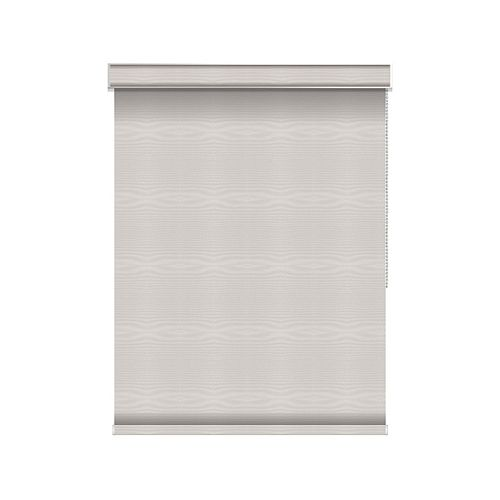Sun Glow Blackout Roller Shade - Chain Operated with Valance - 36.5-inch X 36-inch in Ice
