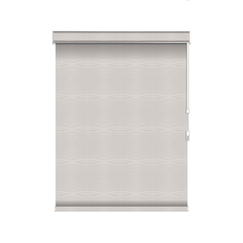 Sun Glow Blackout Roller Shade - Chain Operated with Valance - 50-inch X 60-inch in Ice