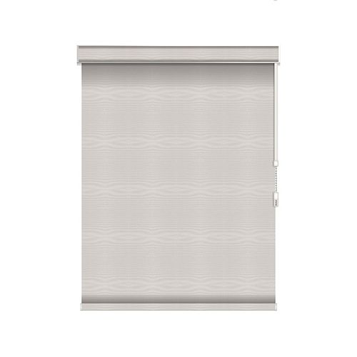 Sun Glow Blackout Roller Shade - Chain Operated with Valance - 25.5-inch X 84-inch in Ice