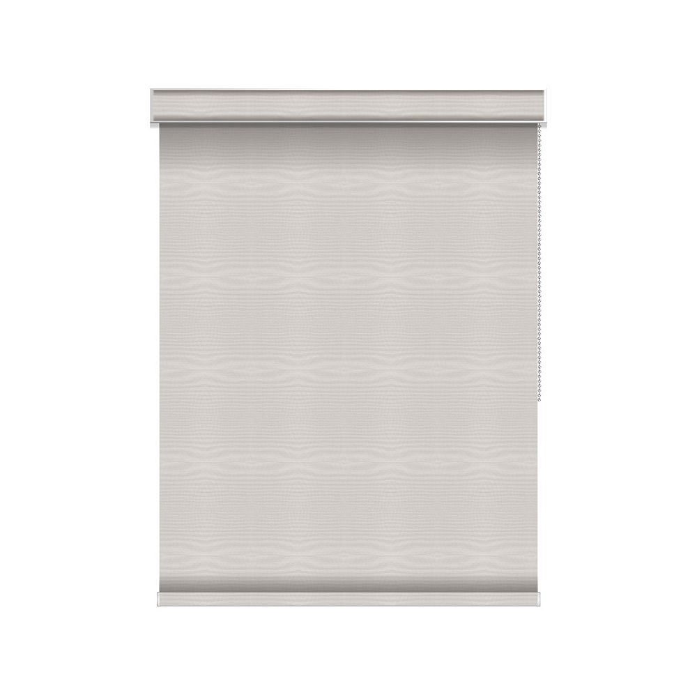 Sun Glow Blackout Roller Shade - Chain Operated with Valance - 54.75-inch X 84-inch in Ice