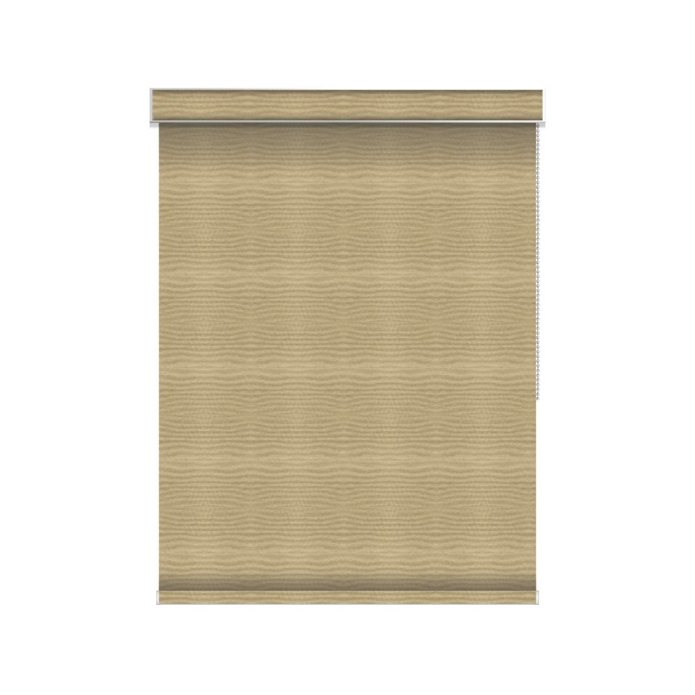 Blackout Roller Shade - Chain Operated with Valance - 40.25-inch X 36-inch in Champagne