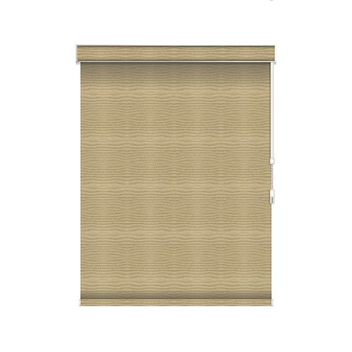 Sun Glow Blackout Roller Shade - Chain Operated with Valance - 73.25-inch X 36-inch in Champagne