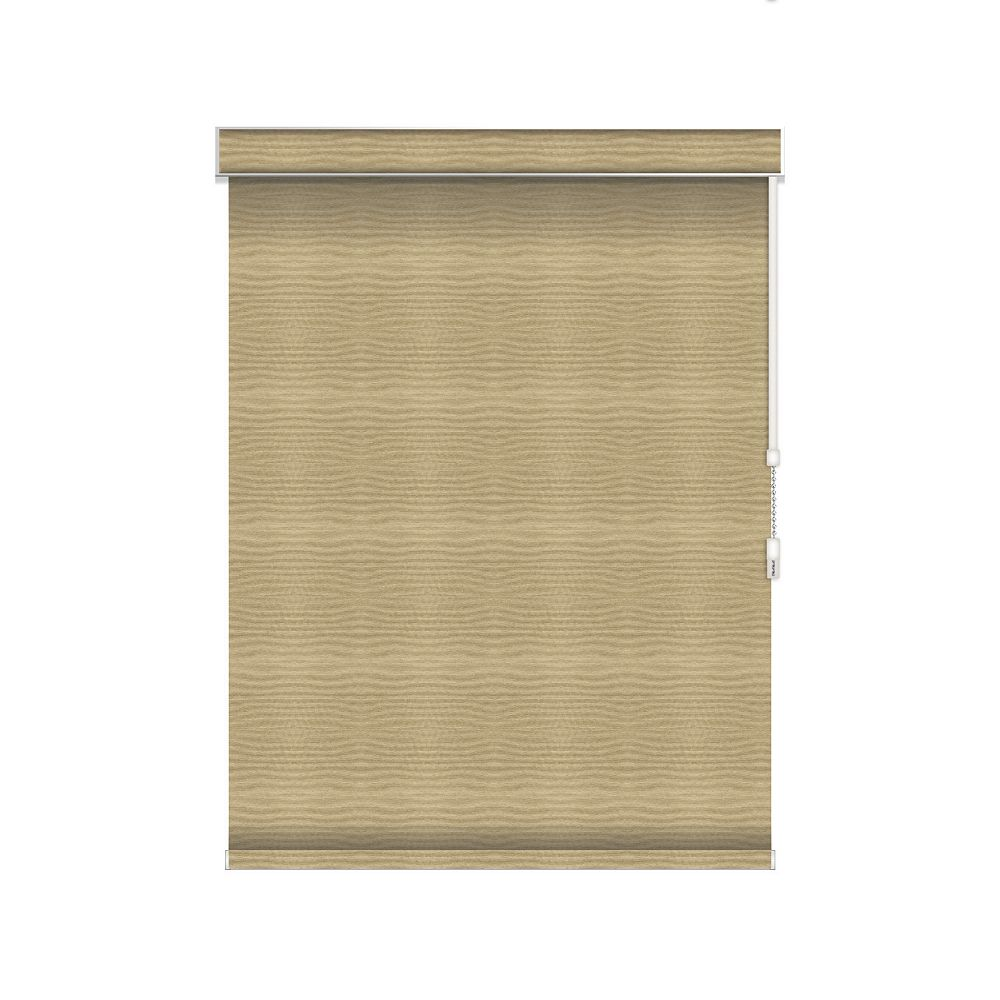 Sun Glow Blackout Roller Shade - Chain Operated with Valance - 23.25-inch X 84-inch in Champagne