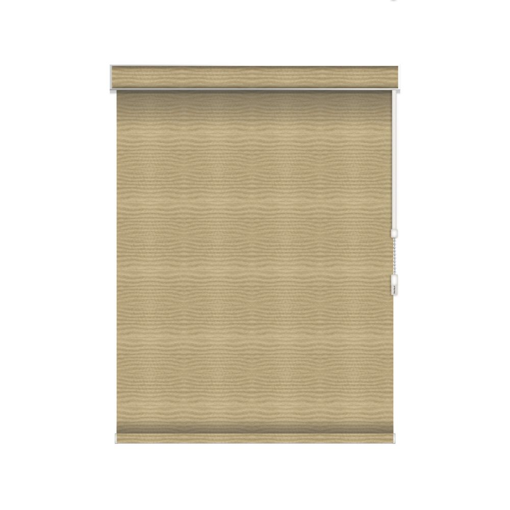 Blackout Roller Shade - Chain Operated with Valance - 25-inch X 84-inch in Champagne