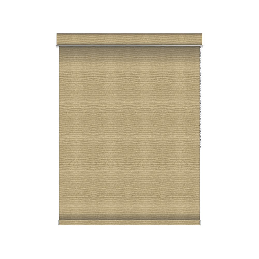 Sun Glow Blackout Roller Shade - Chain Operated with Valance - 45.25-inch X 84-inch in Champagne