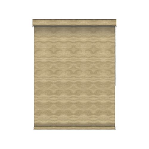 Sun Glow Blackout Roller Shade - Chain Operated with Valance - 62-inch X 84-inch in Champagne