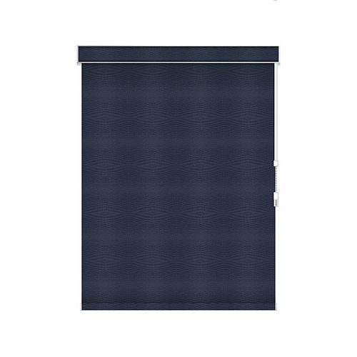 Sun Glow Blackout Roller Shade - Chain Operated with Valance - 35.5-inch X 36-inch in Navy