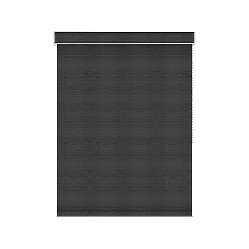 Sun Glow Blackout Roller Shade - Chain Operated with Valance - 31-inch X 36-inch in Denim