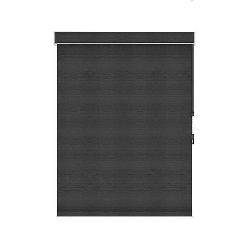 Sun Glow Blackout Roller Shade - Chain Operated with Valance - 38.5-inch X 84-inch in Denim